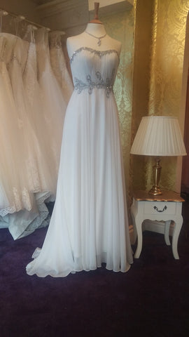 CLEARANCE WEDDING DRESS £250 (IVORY UK 10) - Angel Forever ELP0320