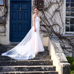 CLEARANCE WEDDING DRESS £250 (BLUSH & IVORY UK 14) - Wedding Dress Special Day C17116