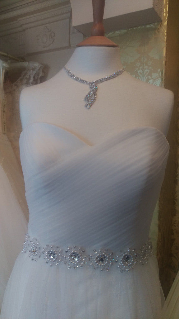 CLEARANCE WEDDING DRESS £250 (IVORY UK 12) -  Angel Forever ANGELB665
