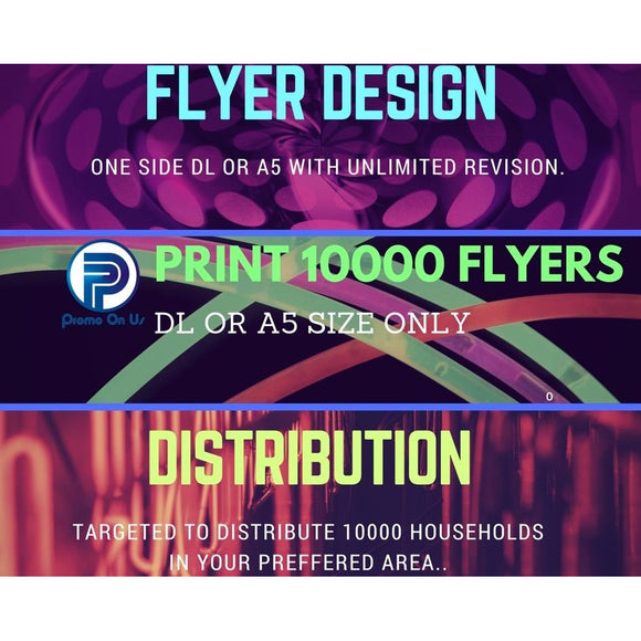 DESIGN+10K PRINTING+10K DISTRIBUTION TRIO DEAL