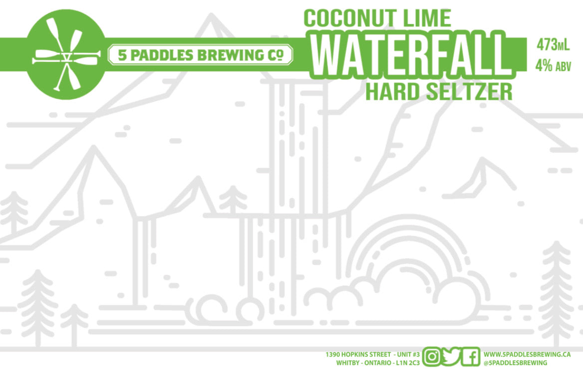 Coconut Lime Waterfall - Hard Seltzer - 473mL