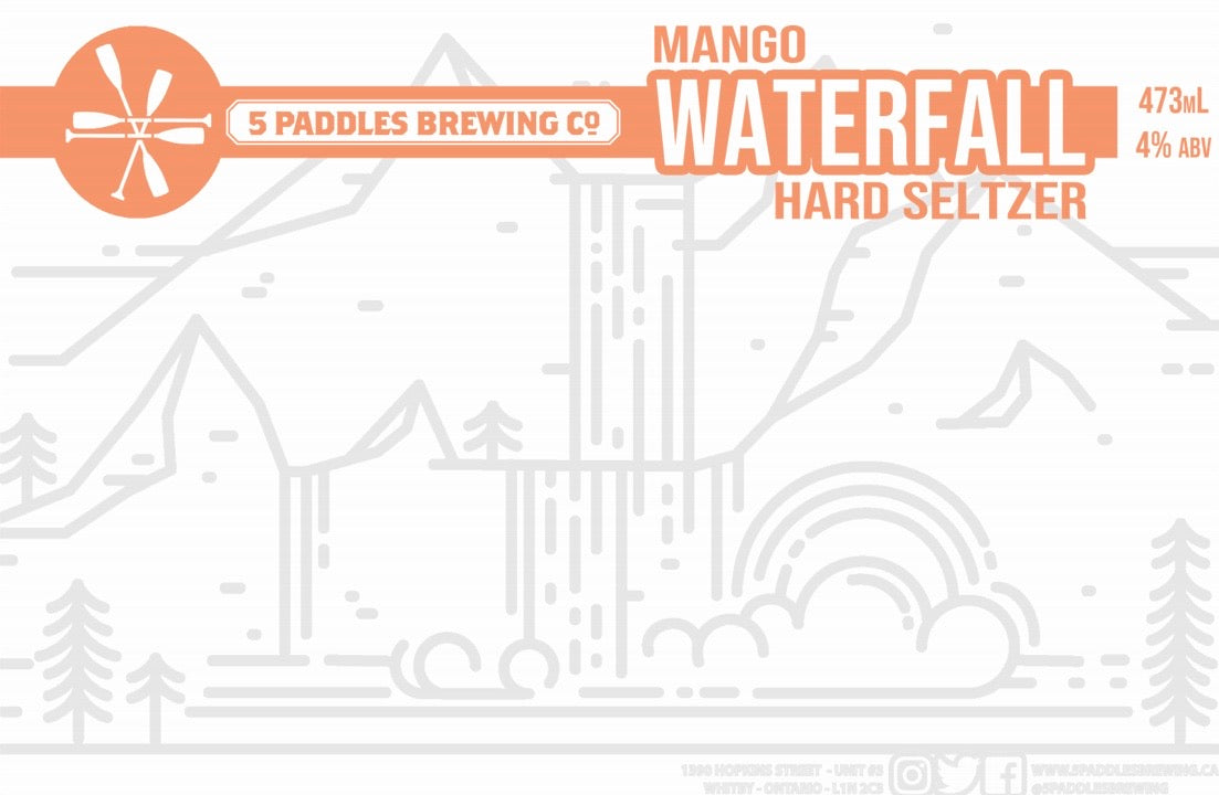 Mango Waterfall - Hard Seltzer - 473mL