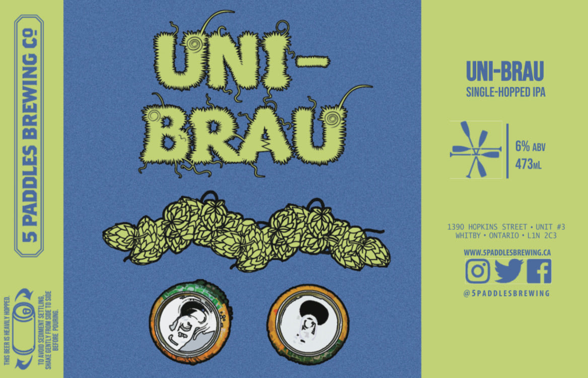 Uni-Brau - Single-Hopped IPA with Cascade - 473mL