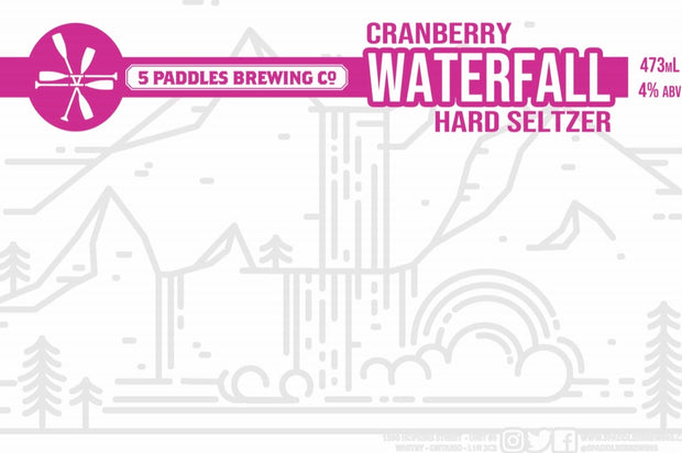 Cranberry Waterfall Hard Seltzer (473mL)
