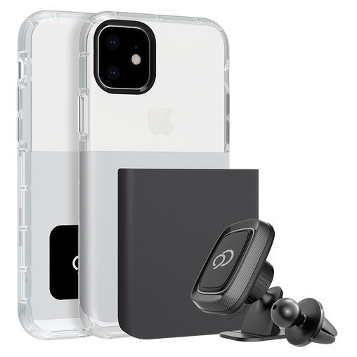 Nimbus9 - Ghost 2 Pro Case with Mount for Apple iPhone 11 / XR - Gunmetal Gray & Pure White