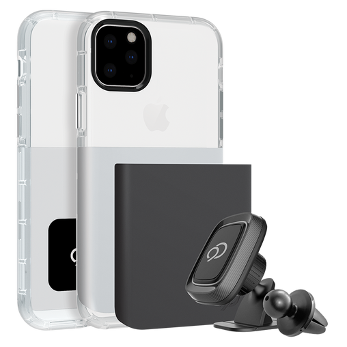 Nimbus9 - Ghost 2 Pro Case with Mount for Apple iPhone 11 Pro Max / Xs Max - Gunmetal Gray and Pure White