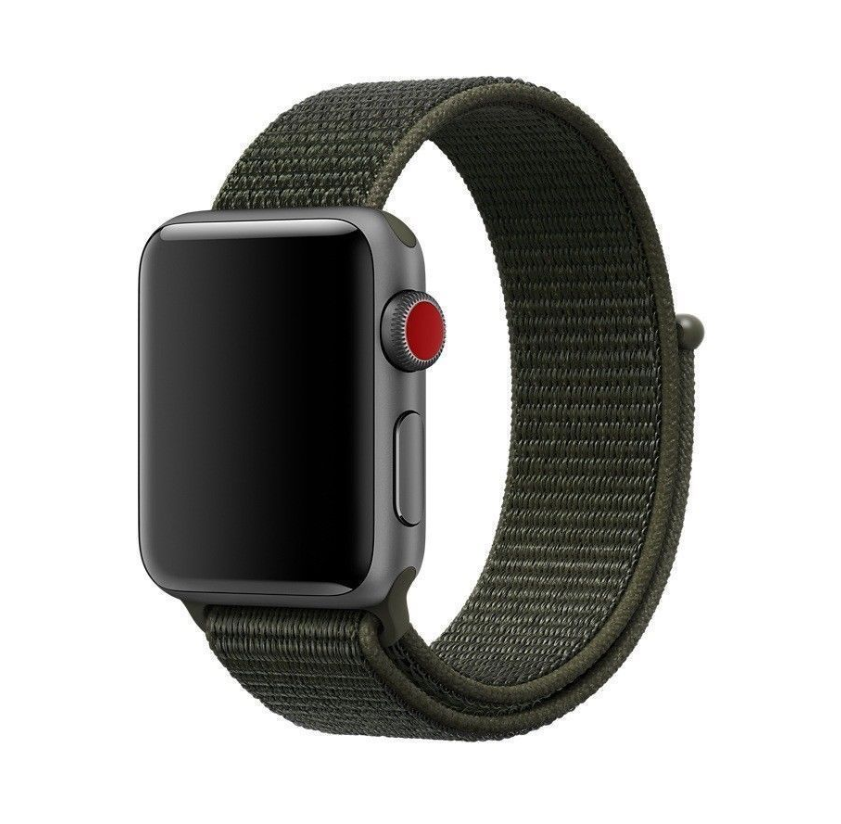 Sport Loop Nylon Woven Band for Apple Watch Series 4 3 2 1 (Army Green)