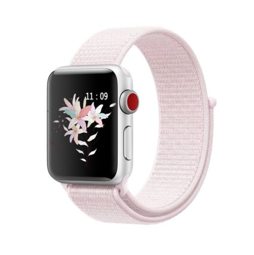 Sport Loop Nylon Woven Band for Apple Watch Series 4 3 2 1 (Pearl Pink)