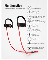 Otium Bluetooth Headphones Red