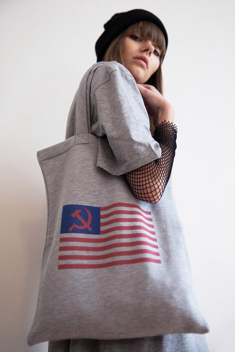 Tote bag - Flag - Gris chiné