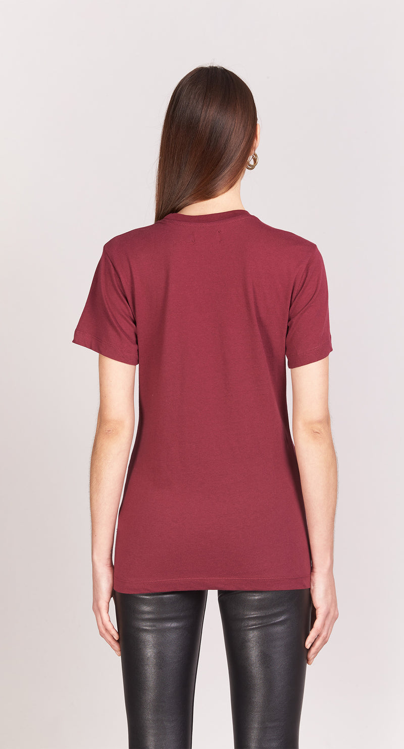 T-shirt Boyfriend - Rad Block - Bordeaux