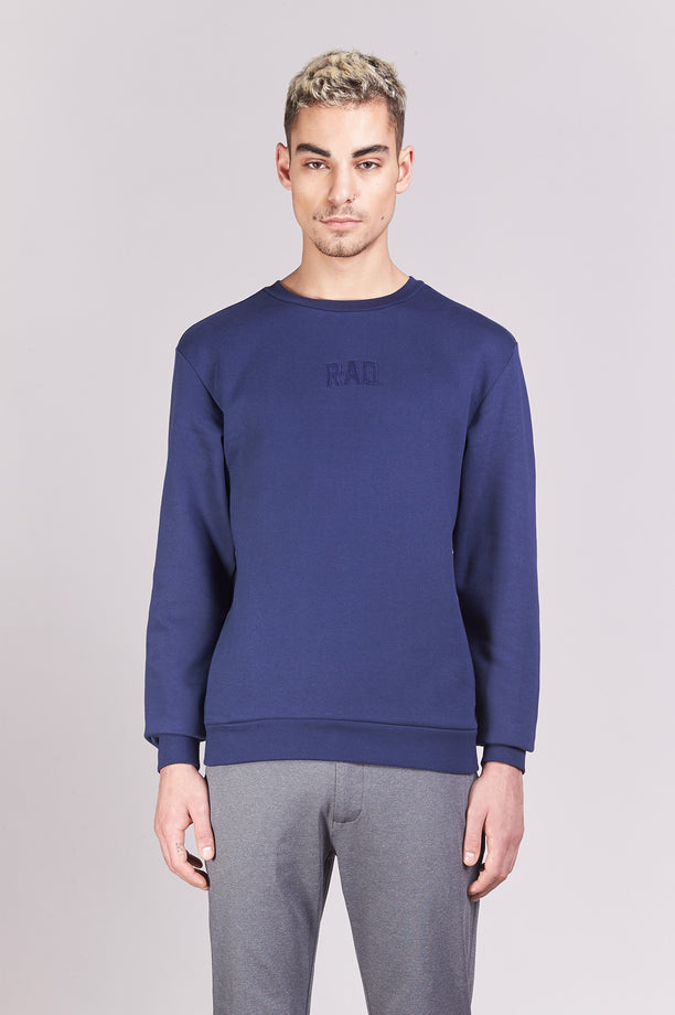 Sweat-shirt - Rad Block Small - Navy