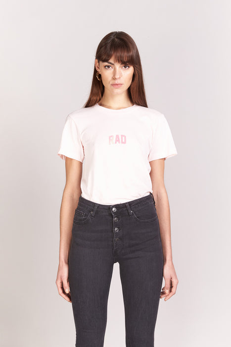 T-shirt Boyfriend - Rad Block Small - Rose poudré