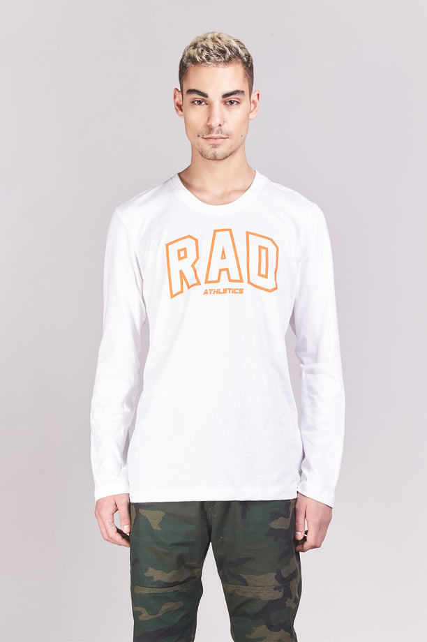 T-shirt College - Rad Athletics - Blanc