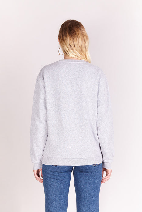 Sweat-shirt - Loser - Gris chiné