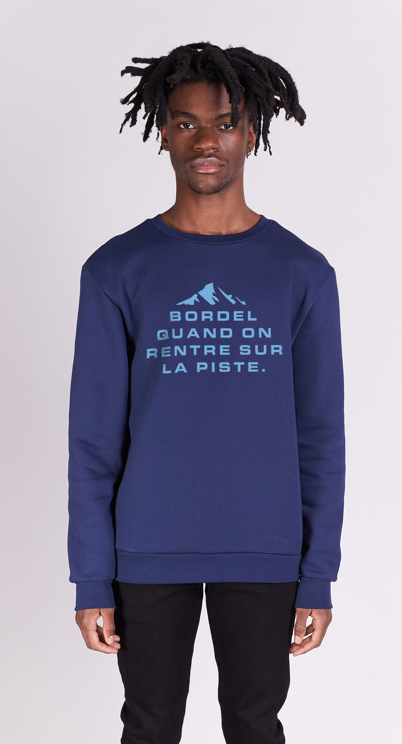 Sweat-shirt - Bordel sur la piste - Navy