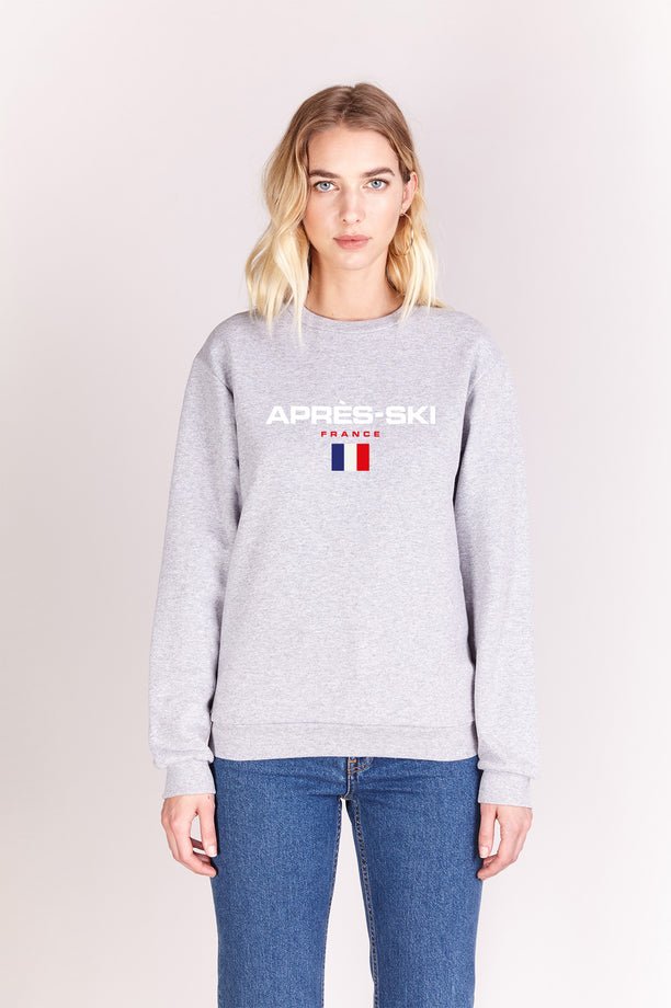 Sweat-shirt - Après-Ski - Gris chiné