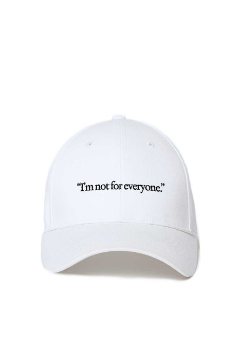 Casquette Baseball - I'm Not For Everyone - Blanc