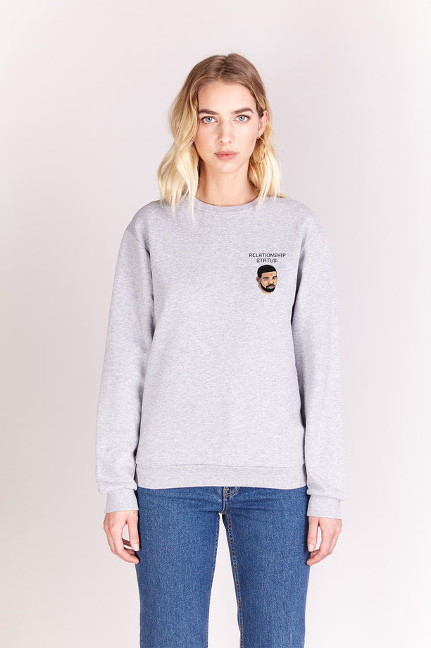 Sweat-shirt - Relationship Status - Gris chiné