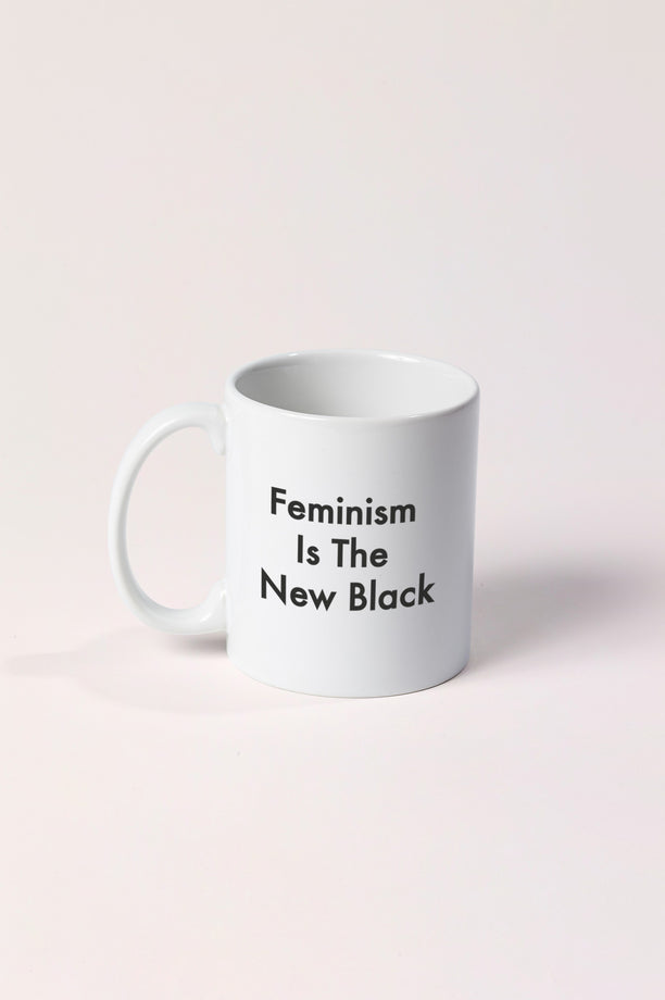 Mug - Feminism is the New Black - Blanc