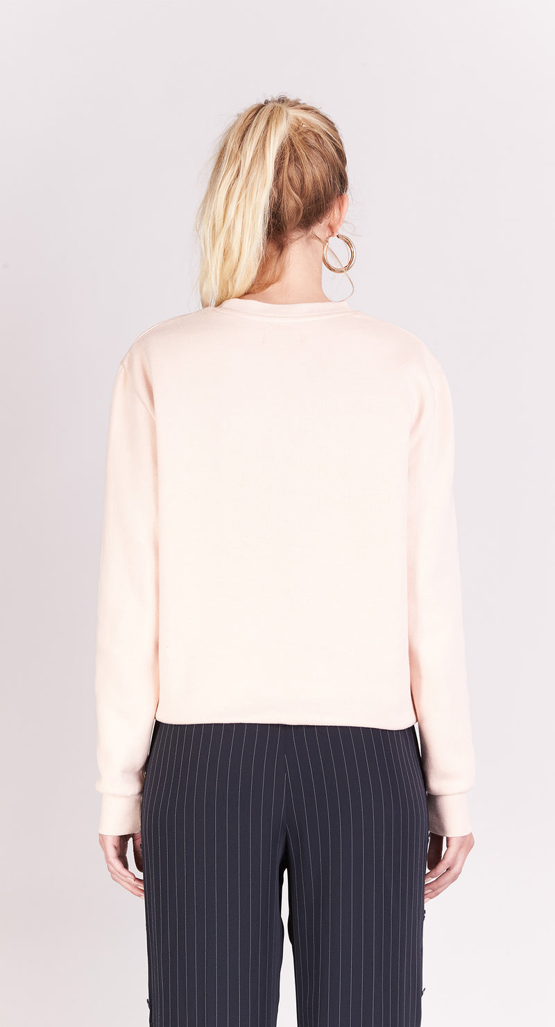 Sweat-shirt - Ananas - Nude