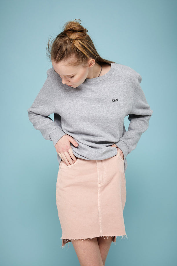 Sweat-shirt - Rad Logo Series - Gris chiné