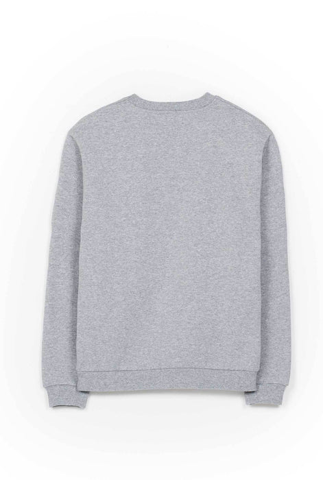 Sweat-shirt - It's Wine O'Clock - Gris chiné