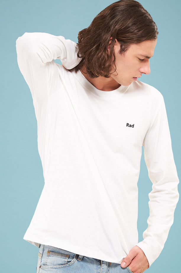 T-shirt College - Rad Logo Series - Blanc