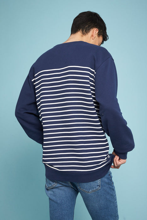 Sweat-shirt Marinière - Navy