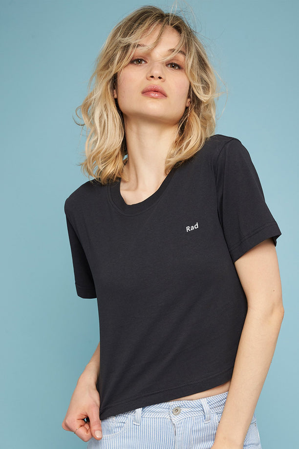 T-shirt crop - Rad Logo Series - Anthracite