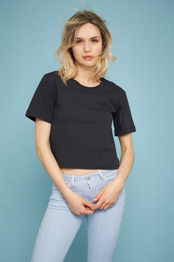T-shirt crop - Anthracite