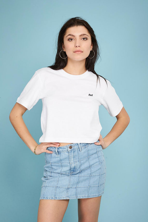 T-shirt crop - Rad Logo Series - Blanc