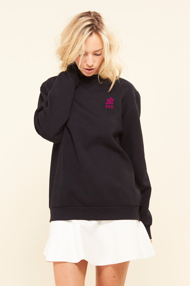 Sweat-shirt - Feu - Noir