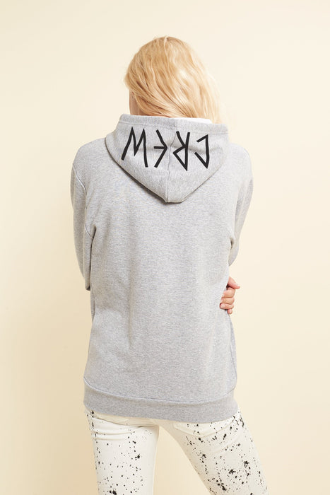 Hoodie - S-Crew - Gris chiné