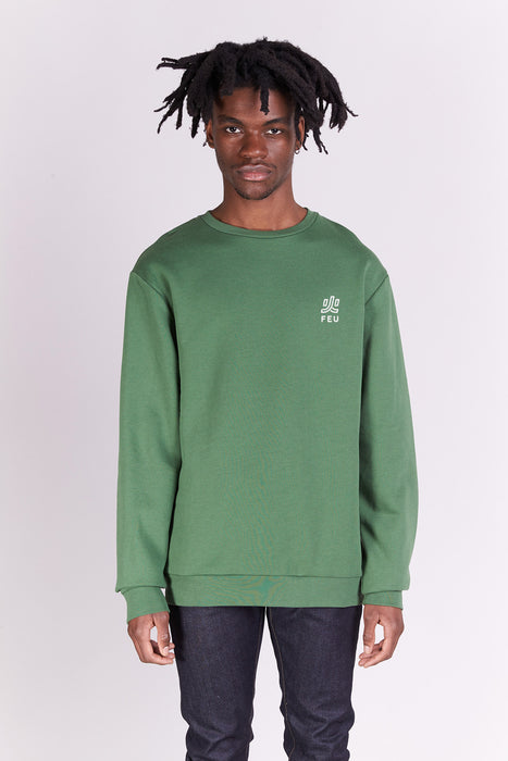 Sweat-shirt - Feu - Kaki