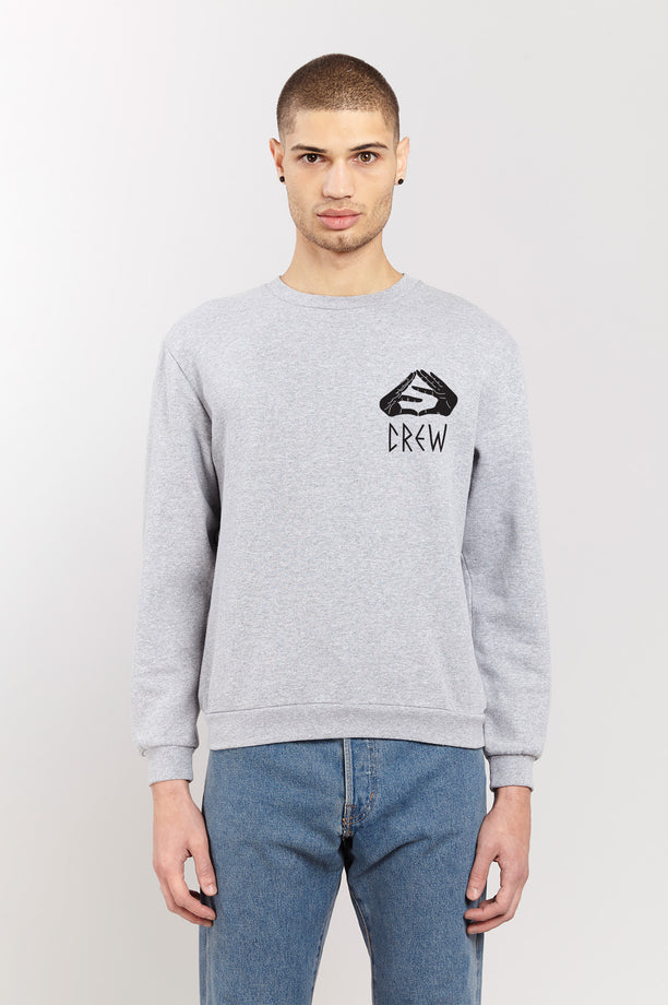 Sweat-shirt - S-Crew - Gris chiné