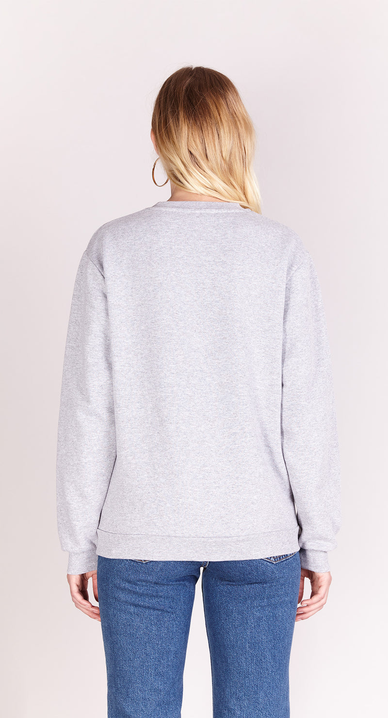 Sweat-shirt - Je M'en Fish - Gris chiné