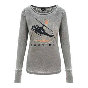 Womens Huey Long Sleeve Top