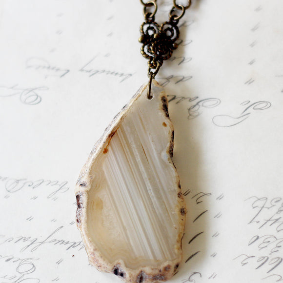 Sliced Agate Jewelry Pendant Natural modeled