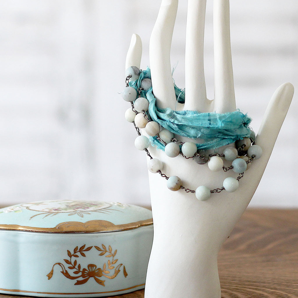 Boho Wrap Around Bracelet Turquoise on mannequin