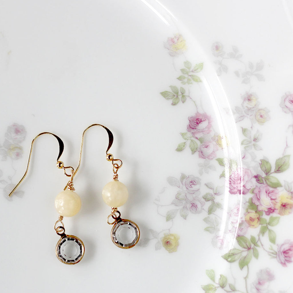 Sweet and Dainty Earrings Cream