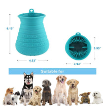 Silicone Dog Paw Washer with Grooming Brush