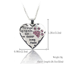 """no longer by my side but forever in my heart"" Memory Necklace"