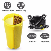 2 in 1 Portable Dog Container with Collapsible bowl
