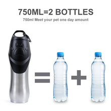 Stainless Steel Dog Water Bottle - 750 ML