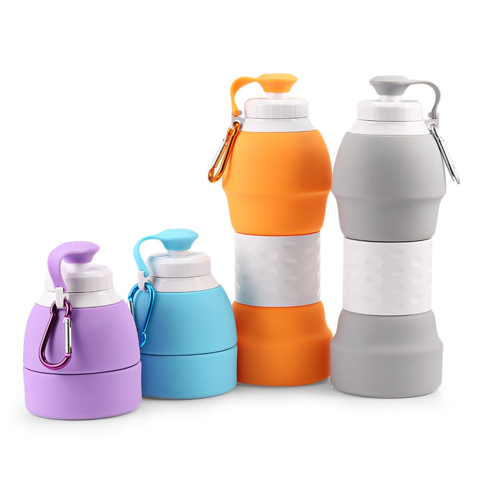 580ML Portable BPA Free Silicone Water/Coffee/Tea Bottle