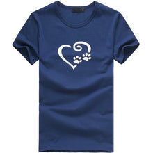 Paw print with Heart Women's T-Shirt