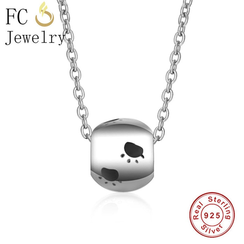 925 Sterling Silver Dog Paw Necklace