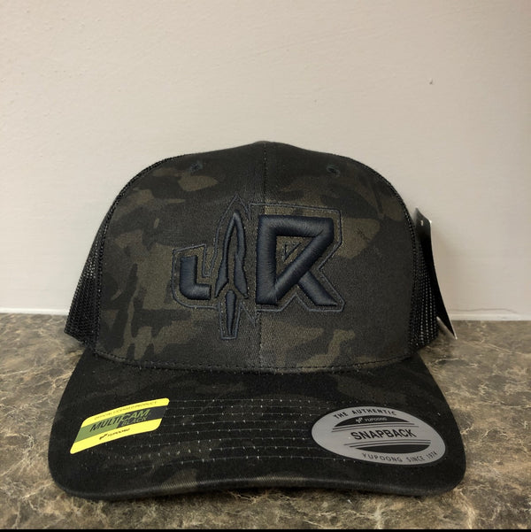 JR WHITE-BlACK/CAMO YUPOONG CURVED BILL SNAP BACK