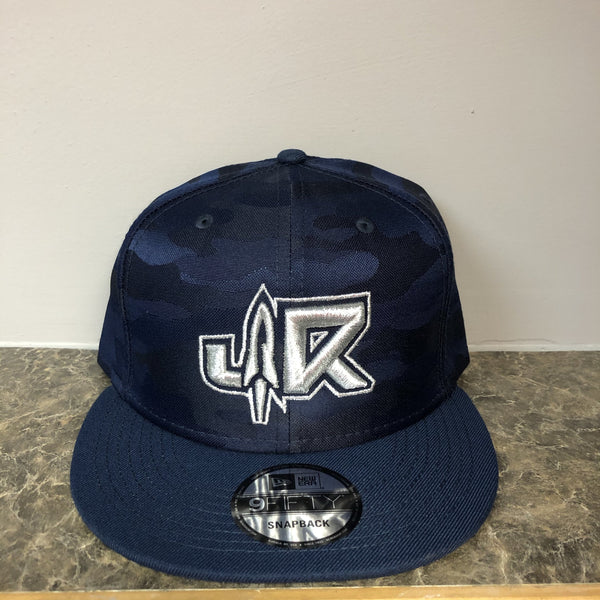JR (LE Blue Camo / Chrome ) New Era 9Fifty Snapback Cap